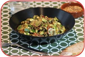 Salade de lentilles et courgette parfumée à l'anis et aux épices douces