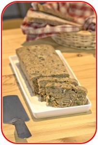Terrine de haricots rouges aux petits légumes et cantal parfumés aux algues