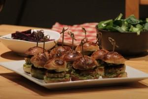 Mini burger aux petits pois & pois chiches façon falafels - Octobre 2015