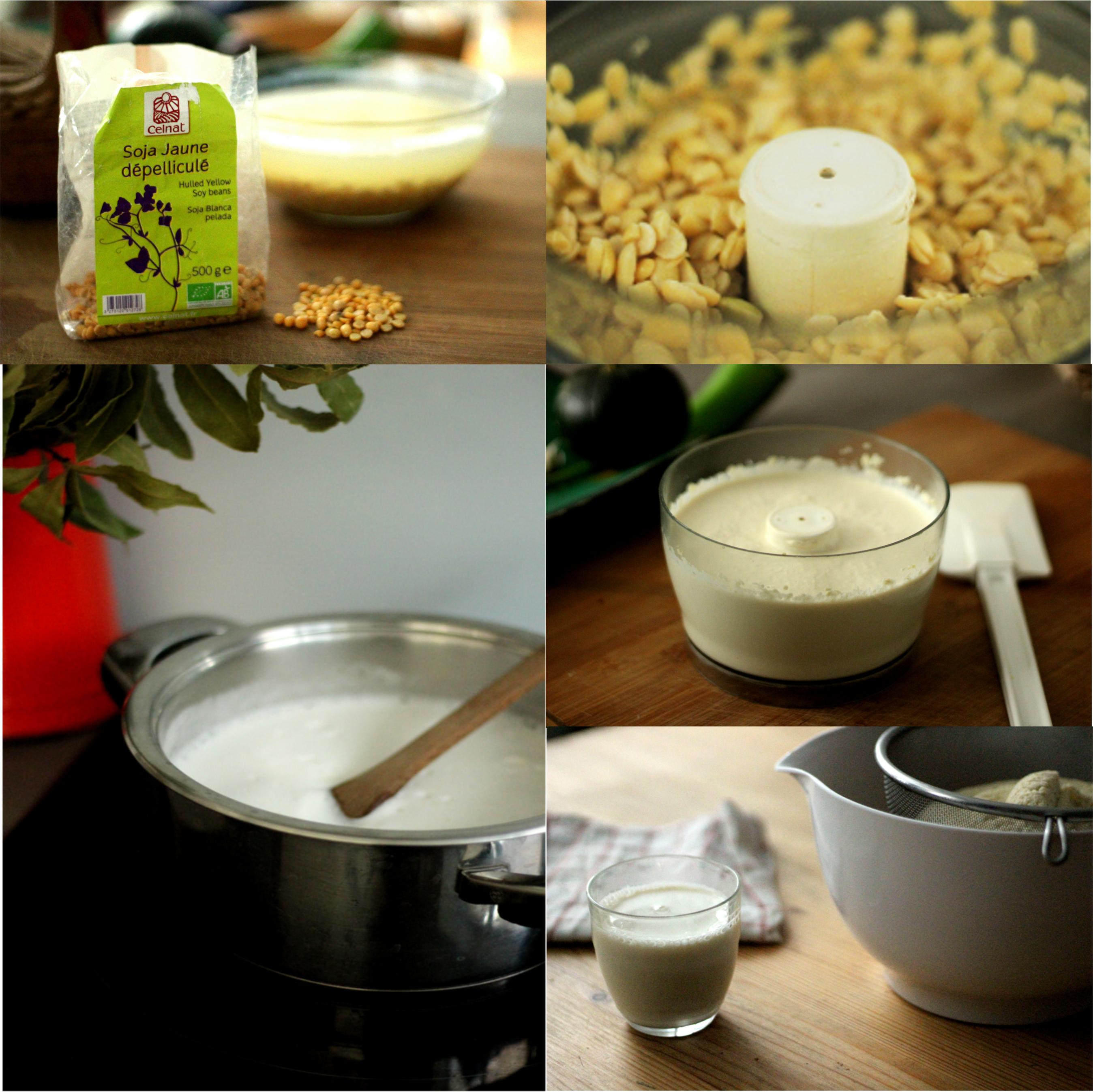 pêle mêle lait de soja fait-maison